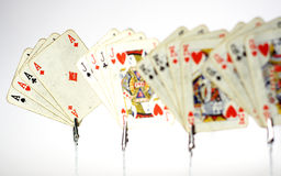 Playing cards. Of four aces Stock Image