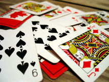 Playing Cards. Macro royalty free stock photos