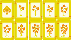 Playing cards 5/8 Royalty Free Stock Image