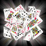 Playing Cards. Lots of scattered playing cards Royalty Free Stock Images