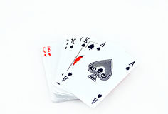 Playing cards. Isolated, pile of cards Stock Image