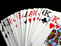 Playing cards. Pictures of various scenes depicting playing cards Royalty Free Stock Image