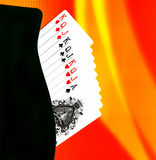 Playing Cards. Still life setup with playing cards and paper forlder. Good for backgrounds Royalty Free Stock Images