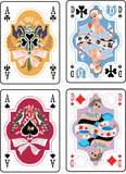 Playing Cards. Vector Spade Suit playing Cards Royalty Free Stock Photo