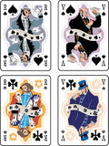 Playing Cards. Vector Spade Suit playing Cards Royalty Free Stock Image
