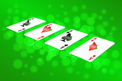 Playing cards on an abstract background. Royalty Free Stock Photos