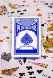 Playing cards abstract background Stock Photos