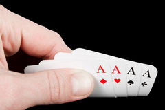 Playing cards aces Stock Photo