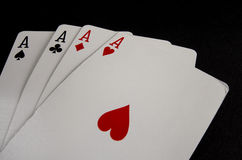 Playing Cards- Aces 3 Stock Photos