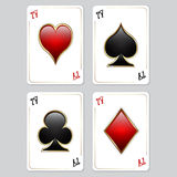 Playing cards, aces Royalty Free Stock Photo