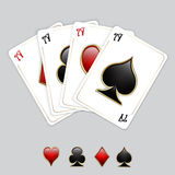 Playing cards, aces Royalty Free Stock Image