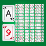 Playing Cards Alphabet and Digit Vector Stock Image