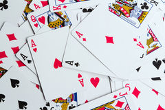 Playing cards as a background Stock Photography