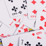 Playing cards as a background Royalty Free Stock Photo
