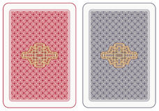 Playing cards back. Abstract design Royalty Free Stock Photo