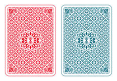 Playing cards back beta. Playing cards back two colors Stock Image