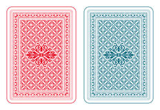 Playing cards back delta. Playing cards back two colors Stock Photography