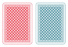 Playing cards back epsilon Royalty Free Stock Photos