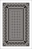 Playing cards back side 60x90 mm black and white stock illustration