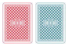 Playing cards back zeta. Playing cards back two colors Royalty Free Stock Photo
