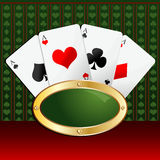 Playing cards background Stock Photos