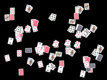 Playing cards background Stock Image
