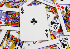 Playing cards Background Royalty Free Stock Photography
