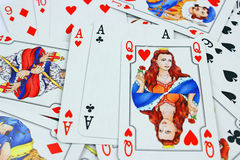Playing cards Background Stock Photo