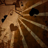 Playing cards background stock images