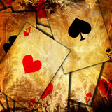 Playing cards background. With soft shades on it Stock Image