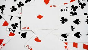 Playing cards background, ace of Diamond. Casino abstract rotating stock footage