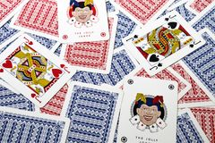 Playing cards background composition. Some playing cards background composition Stock Photography