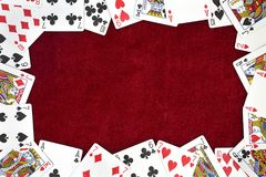 Playing cards background Royalty Free Stock Images