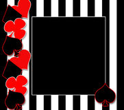 Playing Cards Background with Hears, Spades, Diamonds, Clubs. Back ground illustration of symbols for poker or playing cards to the side which include, hearts stock illustration