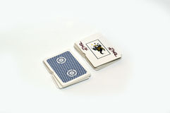 Playing cards. Bet in casino, play with cards Stock Images