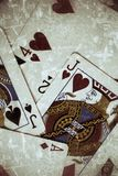 Playing cards. On black background Royalty Free Stock Image
