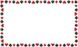 Playing Cards Border On White Background Stock Photos