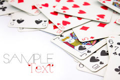 Playing Cards border Stock Photography