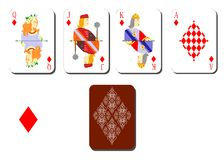 Playing cards bubi Royalty Free Stock Photos