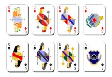 playing cards bubi peaks Stock Photo