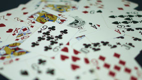 Playing cards stock footage