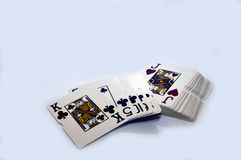 Playing cards. Playing card in casino for the money Royalty Free Stock Photo