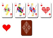 Playing cards chirwa Stock Photography