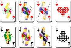 Playing cards chirwa clubs Stock Images