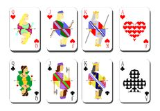 Playing cards chirwa clubs Royalty Free Stock Images
