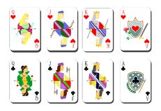 Playing cards chirwa clubs Stock Image