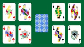 Playing cards chirwa clubs Royalty Free Stock Photo