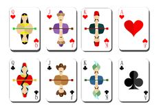 Playing cards chirwa clubs Royalty Free Stock Photos