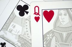 Playing cards close up Stock Photo