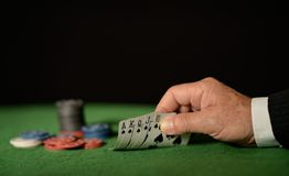 Playing cards stock photography